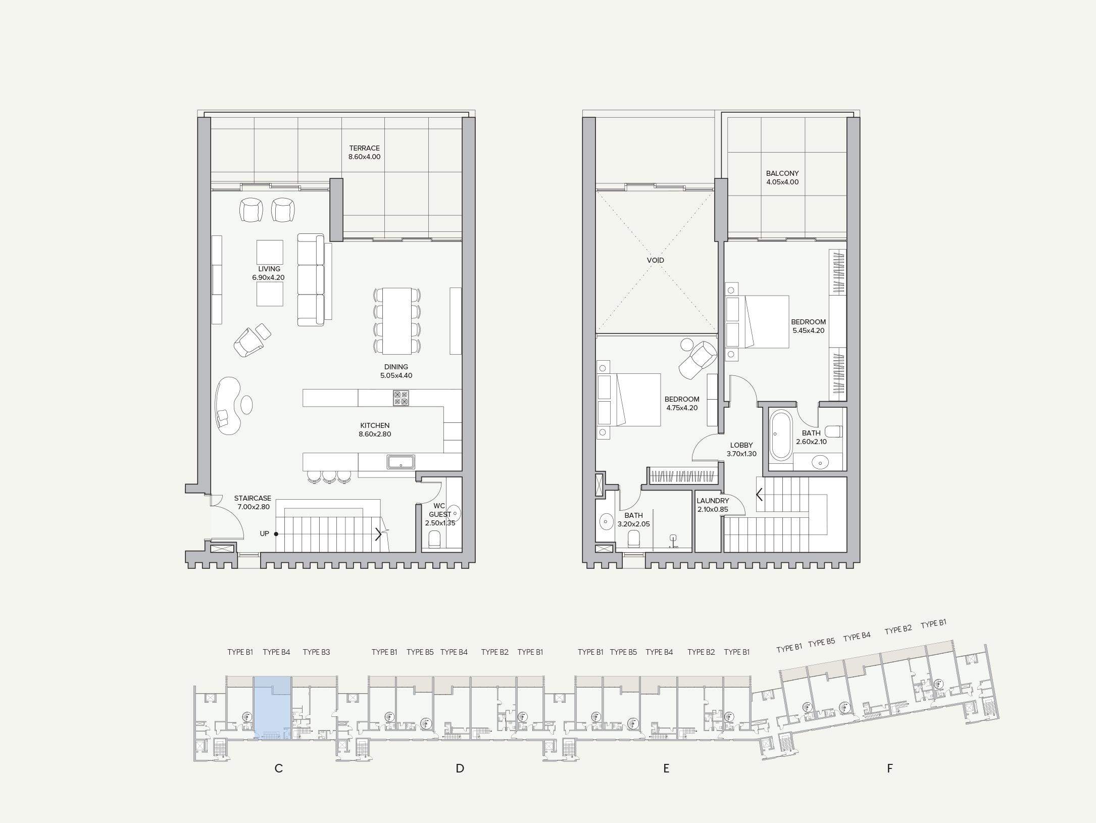 Duplex Type B4-C Apartment Block C