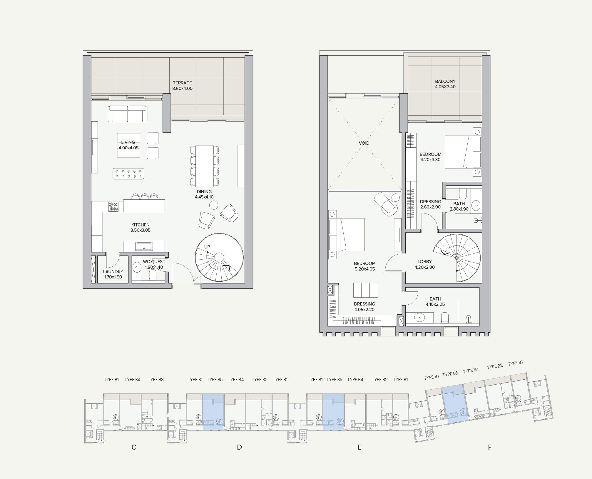 Duplex Type B5 Apartment Block D/E/F