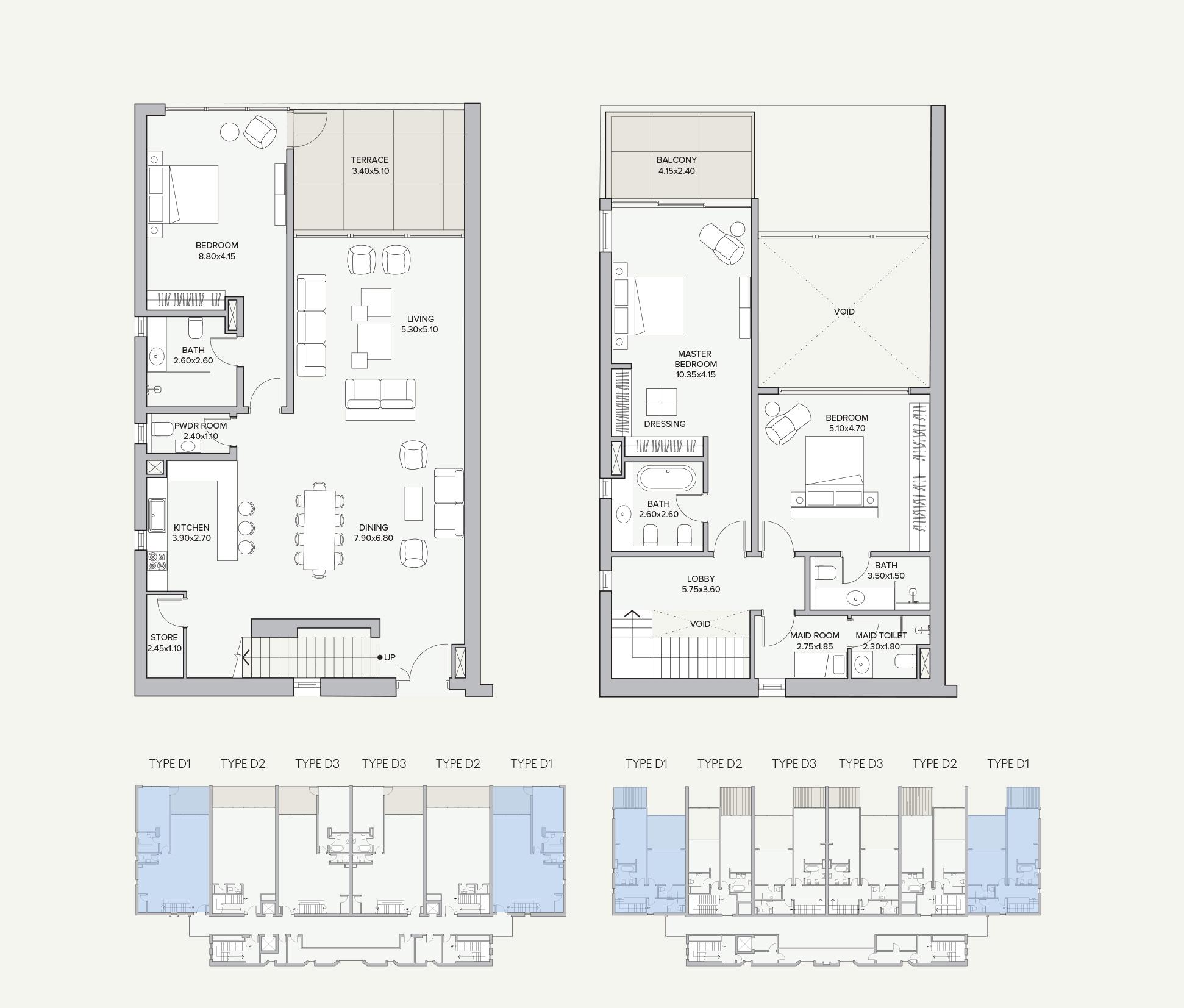 Duplex Type D1 Apartment Block B