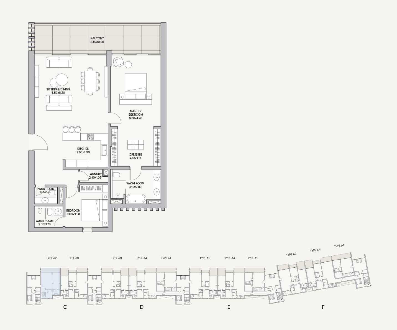 Type A2 Apartment Block C
