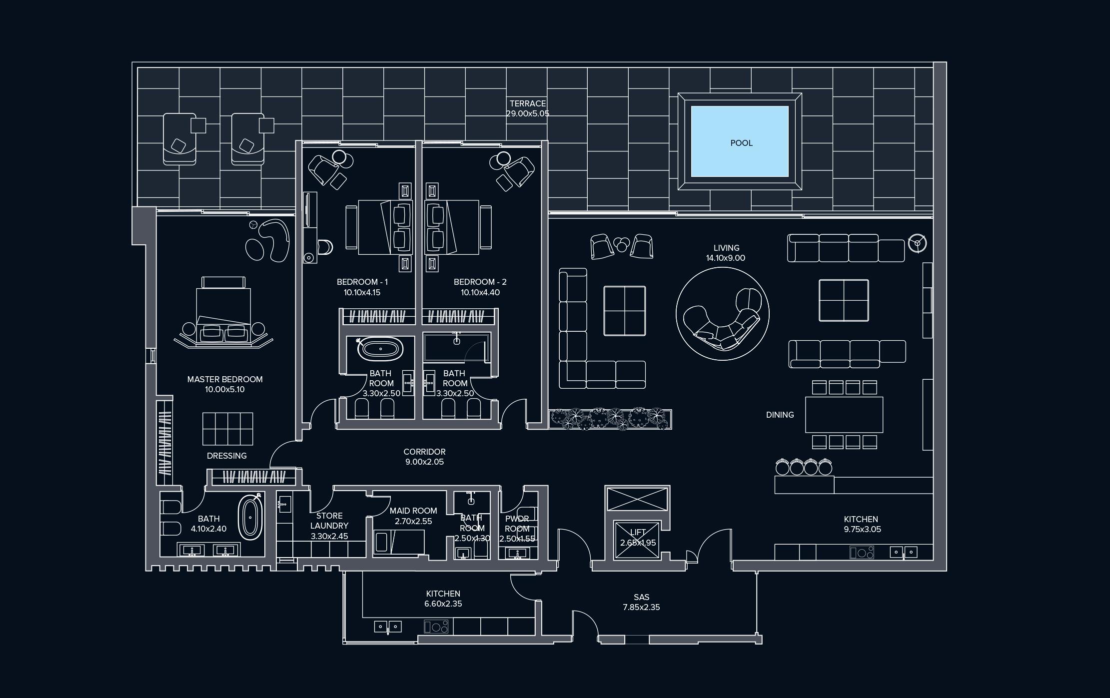 Penthouse Type C3 Left Block B